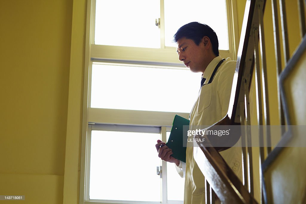 Asian male doctor : Stock Photo