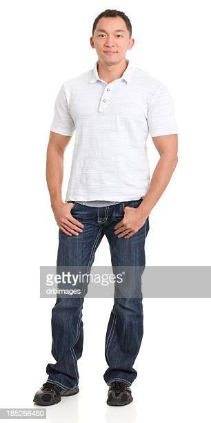 Asian Man Full Length Portrait