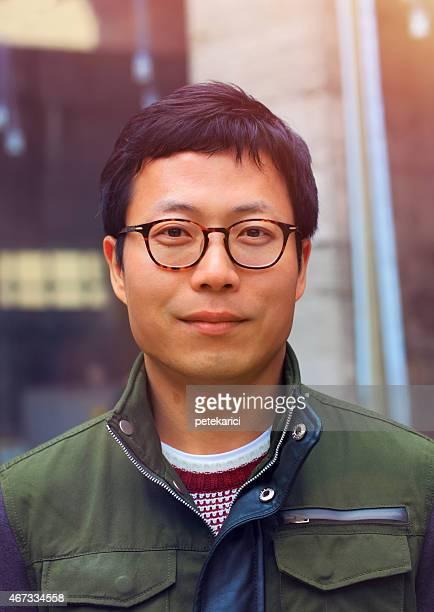 Portrait de l'homme asiatique