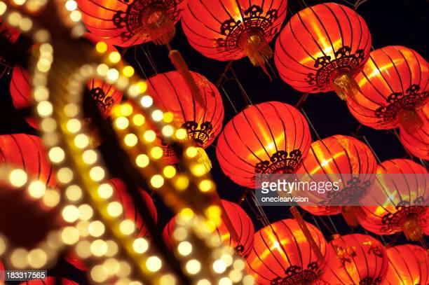 Asiatische Laternen neue Jahr