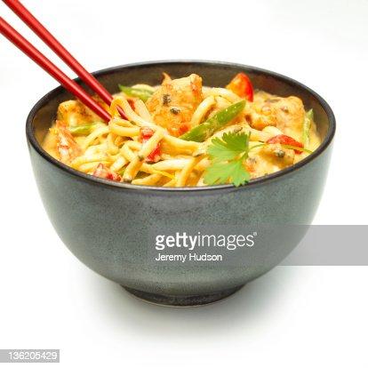 Asian Noodle soup Dish : Stock Photo