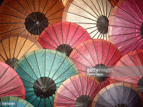 Asian paper umbrellas