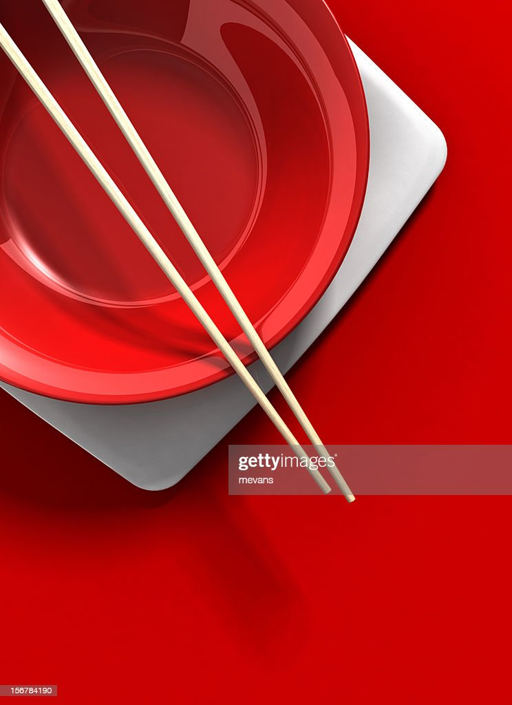 Asian Place Setting : Stock Photo