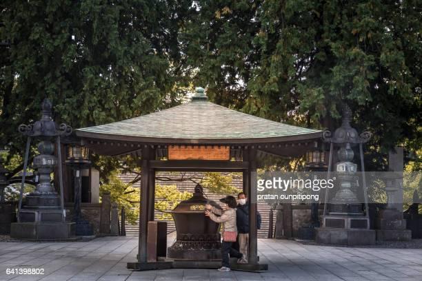 Asian prayer and japanese incense burner