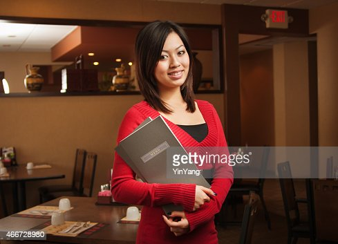 Portrait of Chinese Restaurant Hostess