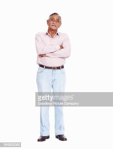 Asian senior man smiling