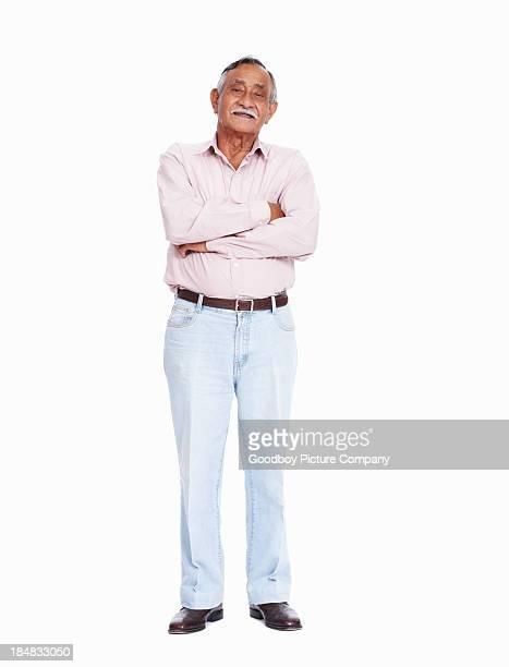 Asiatische senior Mann Lächeln