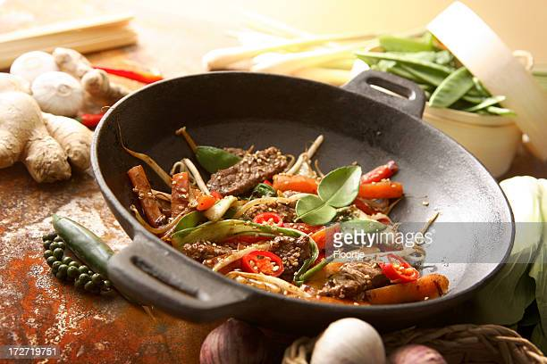 Asian Stills: Stir Fried Beef and Vegetables in Wokpan