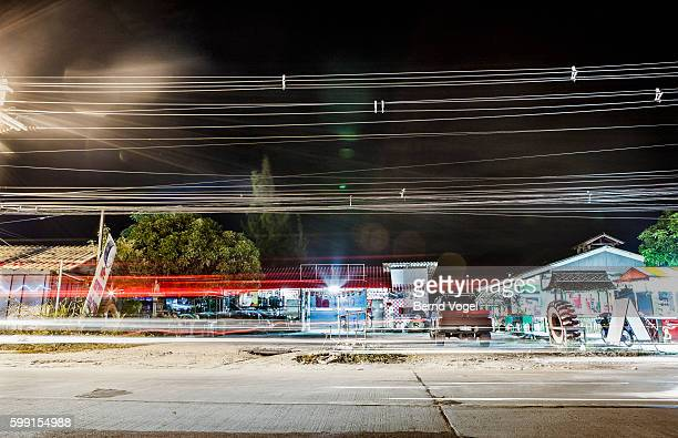 Asian street at night, Thailand