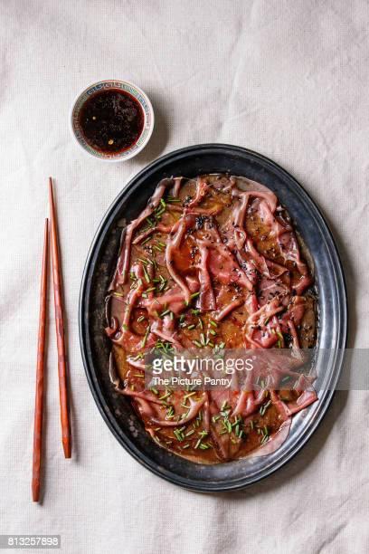 Asian style Beef carpaccio