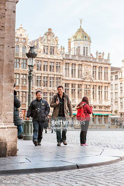 Asian tourists on Grand-Place