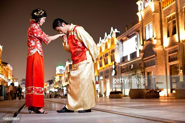 Asian traditional couple