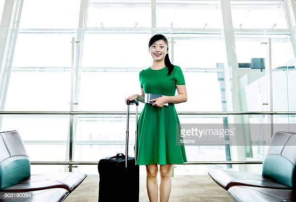 Asian woman at airport