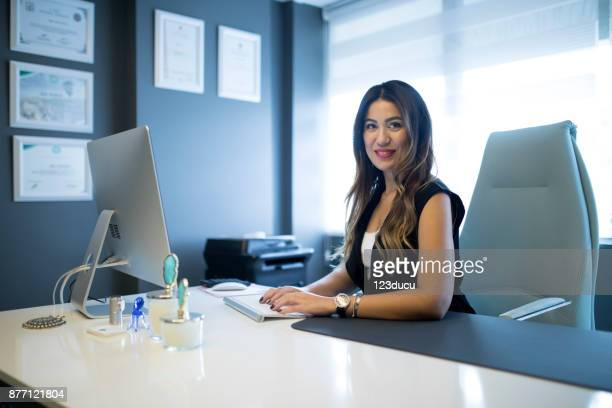 Asian Woman At Office