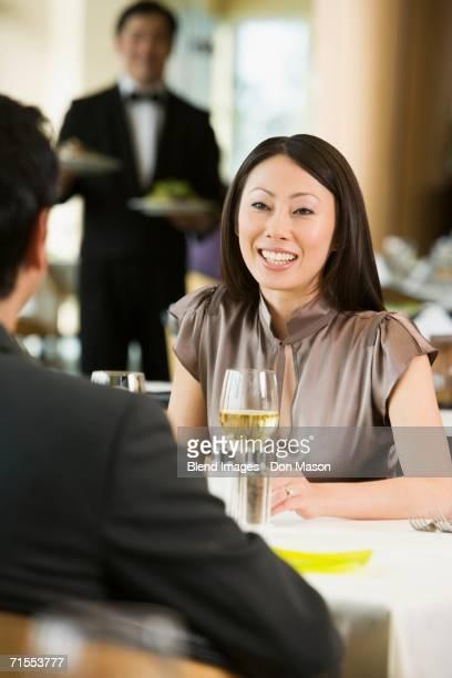 Asian woman at restaurant