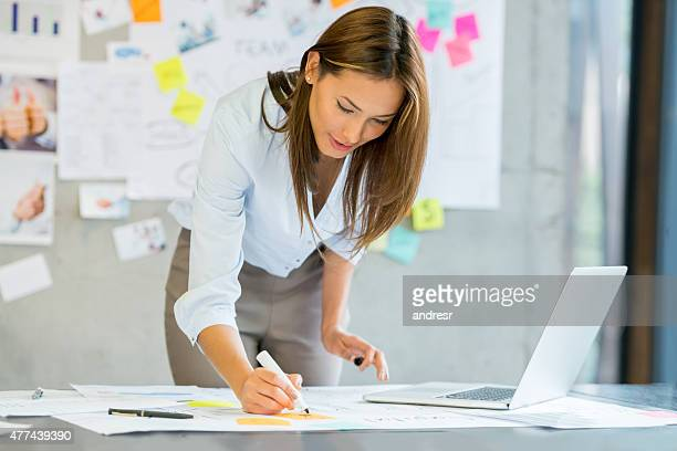 Asian woman business planning