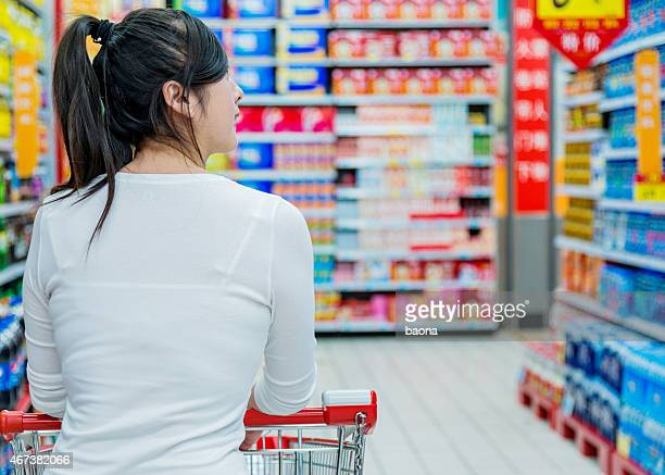 Asian woman doing shopping