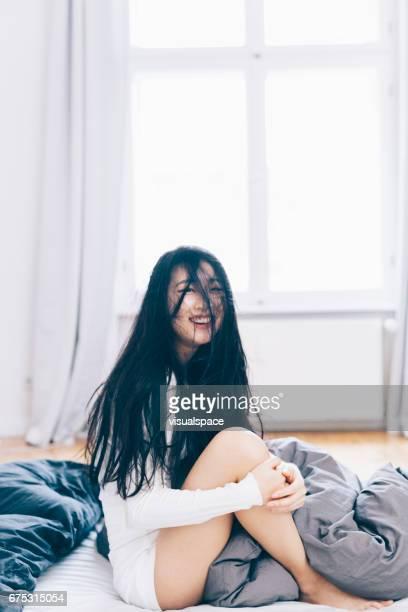 Asian Woman Laughing