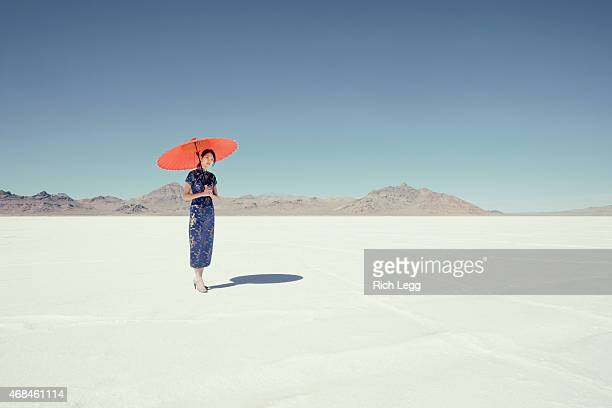 アジアの女性に塩フラット