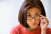 Asian woman wearing eyeglasses