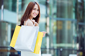 Asian women are shopping Mall