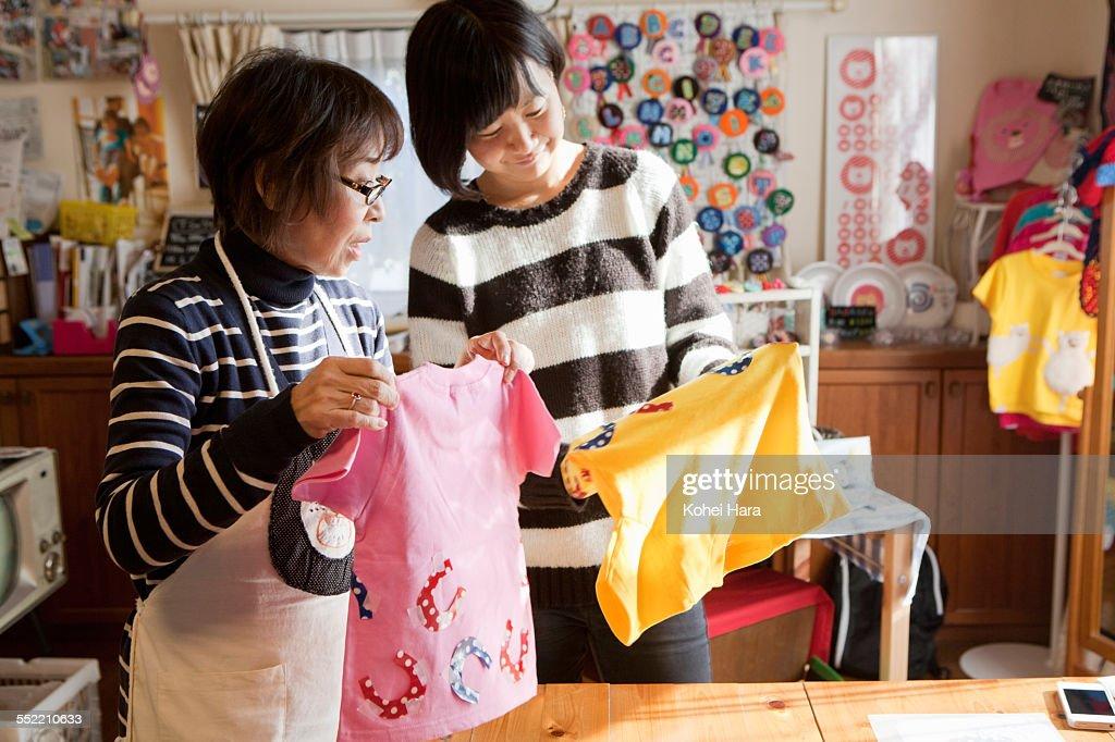 Asian women working at studio