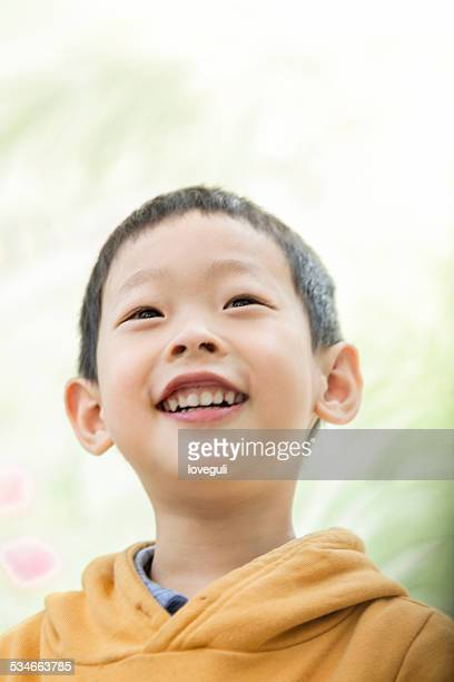 Asian young boy happy portrait