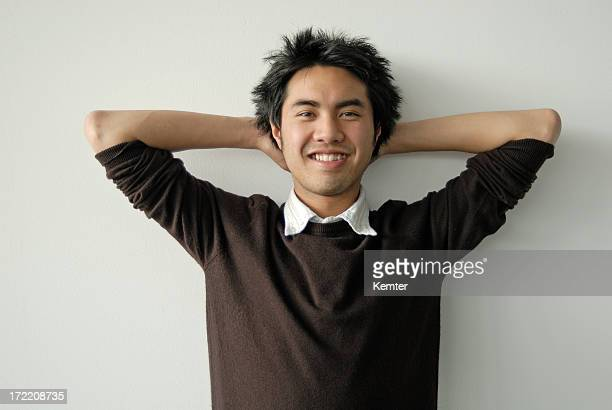asian young man smiling