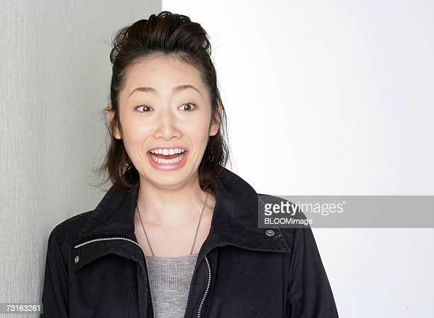 Asian young woman,close-up
