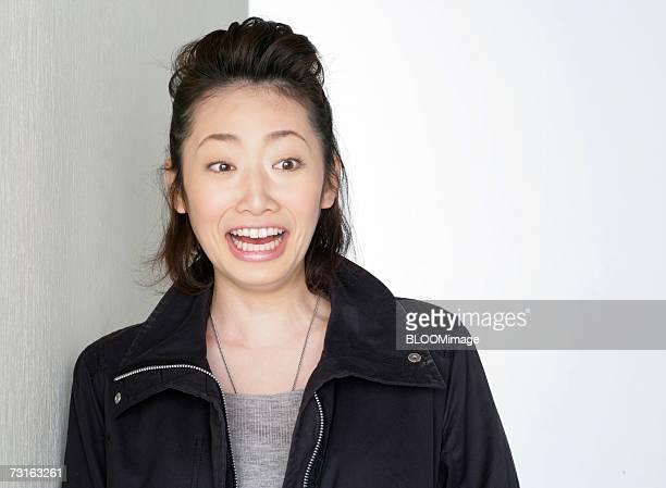 Asian young woman,close-up