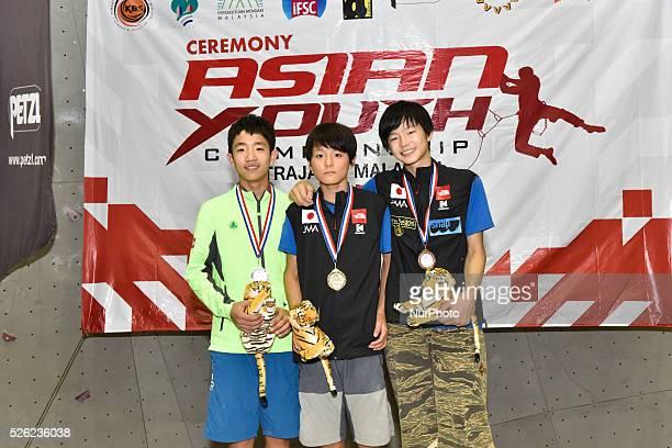 Asian Youth Championship 2015 Putrajaya Malaysia on December 26 2015 Male youth B lead Gold SHUTA TANAKA Silver SEONGMIN EOM Bronze KEITA DOHI