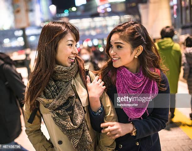 アジアご友人とご一緒に、東京の夜景