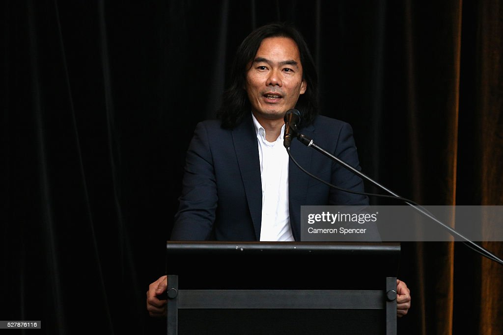 Asics Oceania General Manager of Marketing, Sam Chew talks during the Australian Wallabies jersey launch at All Sorts Sports Factory on May 4, 2016 in Sydney, Australia.