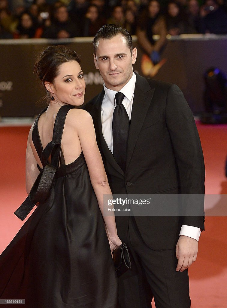 Asier Etxeandia (R) and Ruth Miras attend 'Feroz Awards 2014' at Callao Cinema on January 27, 2014 in Madrid, Spain.