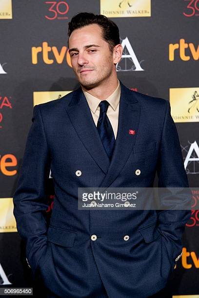 Asier Etxeandia attends 'Candidates to Goya Cinema Awards 2016 Dinner Party' photocall at Palacio de Cibeles on January 26 2016 in Madrid Spain