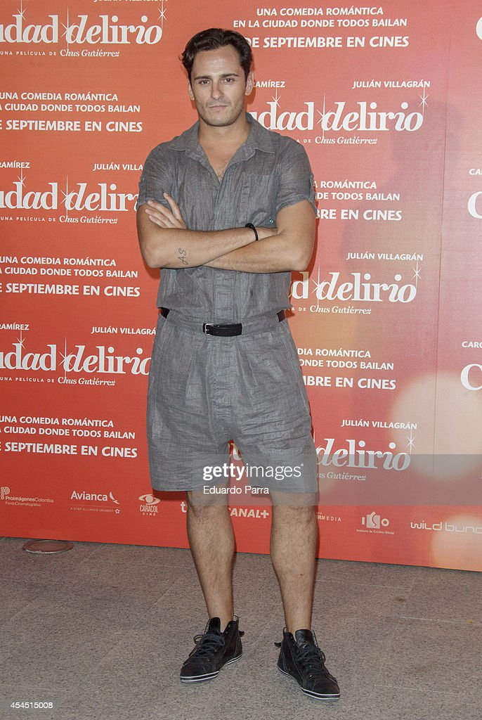 Asier Etxeandia attends 'Ciudad Delirio' premiere photocall at Academia del cine on September 2, 2014 in Madrid, Spain.