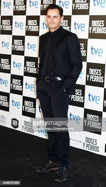 Asier Etxeandia attends 'Dioses Y Perros' premiere on October 7 2014 in Madrid Spain