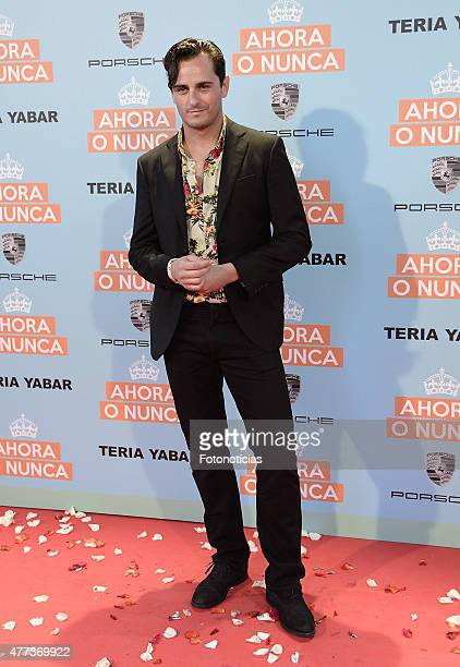 Asier Etxeandia attends the 'Ahora o Nunca' premiere at Capitol Cinema on June 16 2015 in Madrid Spain