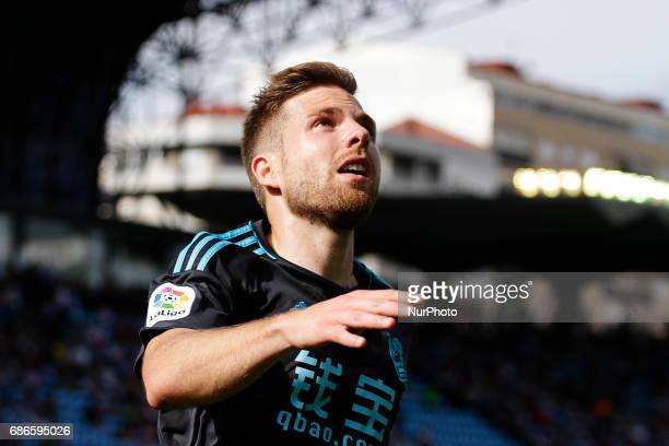 Asier Illarramendi midfielder of Real Sociedad de Futbol during the La Liga Santander match between Celta de Vigo and Real Sociedad de Futbol at...