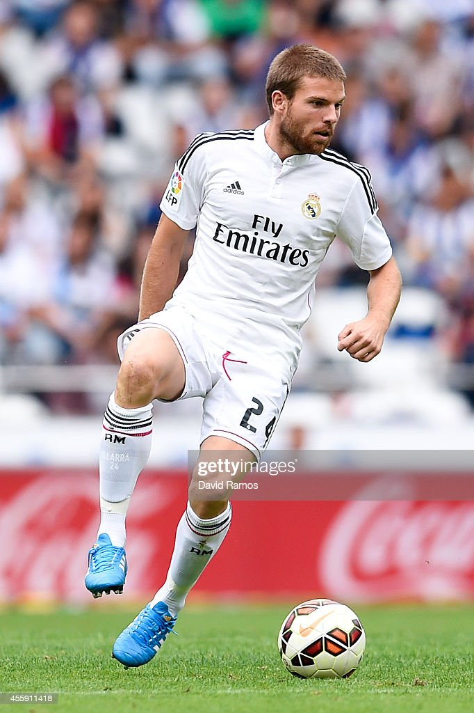 <a gi-track='captionPersonalityLinkClicked' href=/galleries/search?phrase=Asier+Illarramendi&family=editorial&specificpeople=9625979 ng-click='$event.stopPropagation()'>Asier Illarramendi</a> of Real Madrid CF runs with the ball during the La Liga match between RC Deportivo La Coruna and Real Madrid CF at Riazor Stadium on September 20, 2014 in La Coruna, Spain.