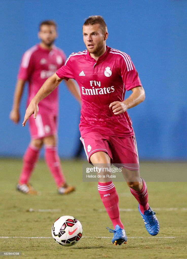 Asier Illarramendi of Real Madrid in actions during the pre-season between Real Madrid and Roma at Guinness International Champions Cup 2014 game at Cotton Bowl on July 29, 2014 in Dallas, Texas.