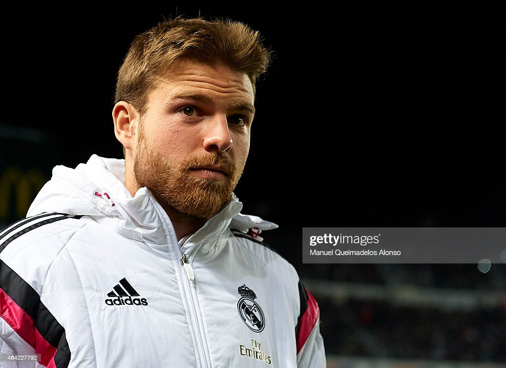 <a gi-track='captionPersonalityLinkClicked' href=/galleries/search?phrase=Asier+Illarramendi&family=editorial&specificpeople=9625979 ng-click='$event.stopPropagation()'>Asier Illarramendi</a> of Real Madrid looks on before the La Liga match between Elche FC and Real Madrid at Estadio Manuel Martinez Valero on February 22, 2015 in Elche, Spain.