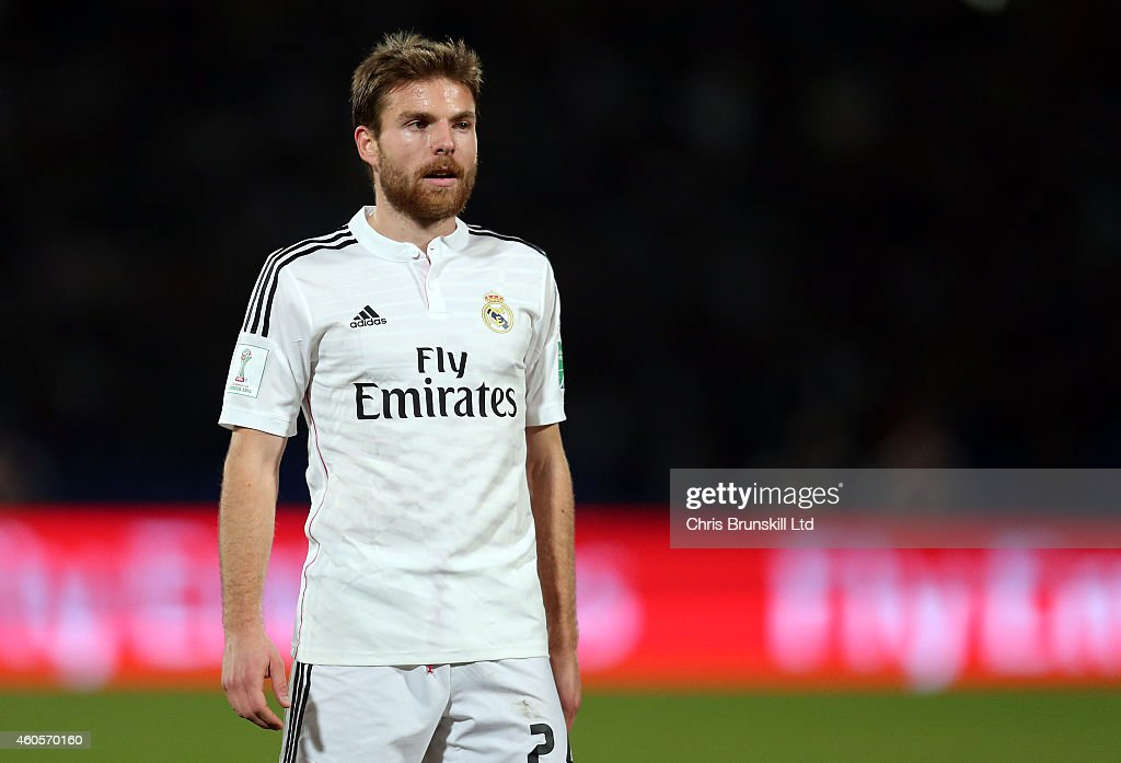 <a gi-track='captionPersonalityLinkClicked' href=/galleries/search?phrase=Asier+Illarramendi&family=editorial&specificpeople=9625979 ng-click='$event.stopPropagation()'>Asier Illarramendi</a> of Real Madrid looks on during the FIFA Club World Cup Semi Final match between Cruz Azul and Real Madrid CF at Marrakech Stadium on December 16, 2014 in Marrakech, Morocco.