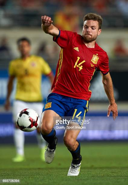 Asier Illarramendi of Spain in action during the international friendly match between Spain and Colombia at Nueva Condomina stadium on June 7 2017 in...