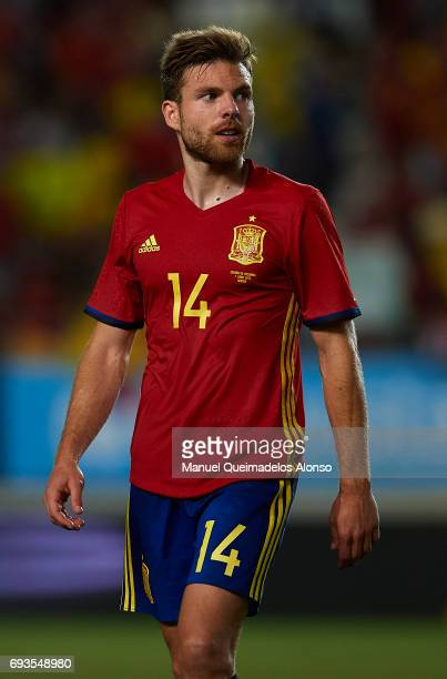 Asier Illarramendi of Spain looks on after the international friendly match between Spain and Colombia at Nueva Condomina Stadium on June 7 2017 in...