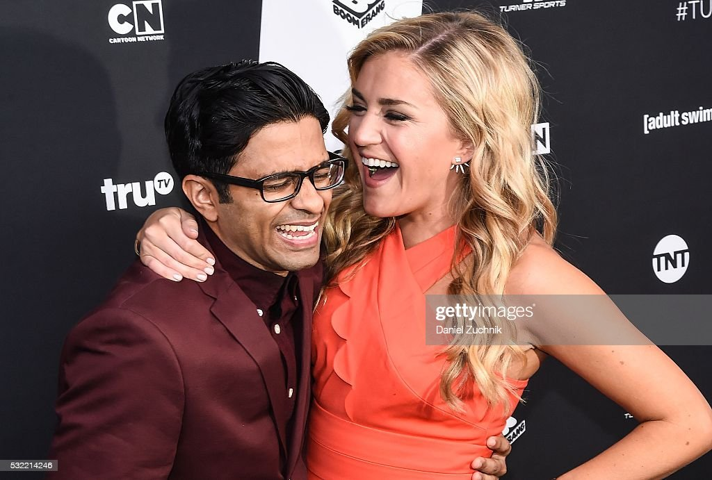Asif Ali and Jessica Lowe attend the 2016 Turner Upfront at Nick Stef's Steakhouse on May 18 2016 in New York New York