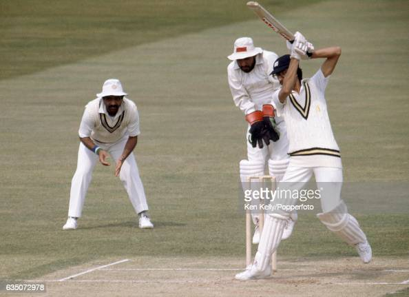 Asif Din batting for Warwickshire during his innings of 91 in the tour match between Warwickshire and India at Edgbaston Birmingham 10th May 1982 The...