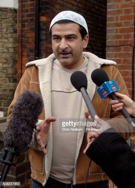 Asif Nadim chairman of the Jamia Masjid GulshaneBughdad Mosque in Bedford speaks to the media Tuesday February 7 outside the home of Omar Khayam the...