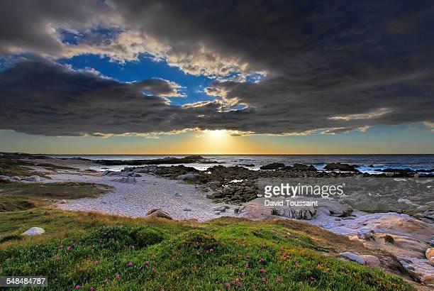 Asilomar state beach near sunset