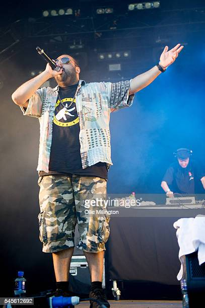 Asim Chaudhry performs in character as as Chabuddy G of Kurupt FM from the hit BBC British Garage music Comedy The people just do nothing onstage...